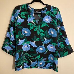 Ann Taylor | Floral Quarter Sleeve Blouse Size M